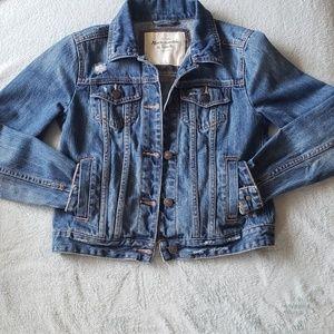 Abercrombie & Fitch Distressed Denim Jacket XS